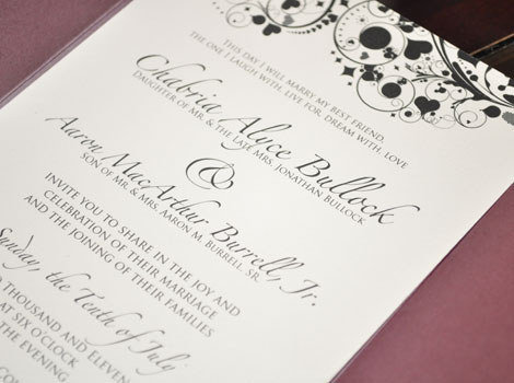 Meet the Burrells (Wedding Invitation)